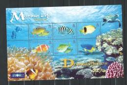 British Indian Ocean Territory 2008 Damselfishes Marine Life Part 4 MNH CV £9.50 - Territoire Britannique De L'Océan Indien