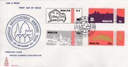 Malta  FDC: 1975 World Building Year 1975  (G74-23) - Malte