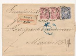 LEIPZIG  - 1879 , R-Brief Nach Marseille - Deutschland