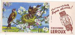 BUVARD CHICOREE LEROUX OISEAUX NID - Coffee & Tea