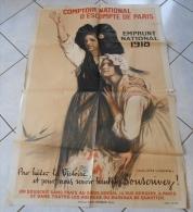 AFFICHE ORIGINALE -  GUERRE 14-18 -  EMPRUNT NATIONAL 1918 -  AUGUSTE LEROUX