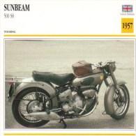 Sunbeam 500cm S8  - 1957   -  Fiche Technique Moto (Grande-Bretagne) - Fiches Illustrées