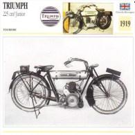 Triumph 225cm Junior   - 1919   -  Fiche Technique Moto (Grande-Bretagne) - Fiches Illustrées