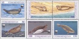 Tu 0001 Turkmenistan 1993 Mi. Nr. 30-35 - Turkmenistan