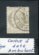 Rare N° 52 Oblitéré Cachet à Date Ambulant - 1871-1875 Cérès