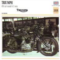 Triumph 650cm Model 6/1 Twin   - 1935   -  Fiche Technique Moto (Grande-Bretagne) - Fiches Illustrées
