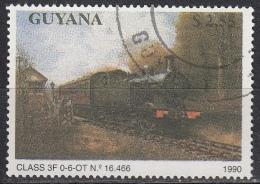 Guyana, 1990 - $2,55 Locomotive Class 3F - Nr.2291 Usato° - Guiana (1966-...)