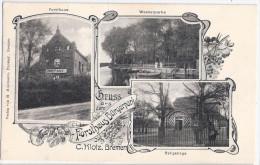 Gruss aus dem Forsthaus B�rgerpark Inh C Klotz BREMEN Jugendstil 15.6.1917 Feldpost