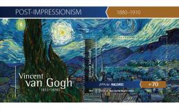 mld15401b Maldives 2015 Impressionism Painting Vincent Van Gogh s/s