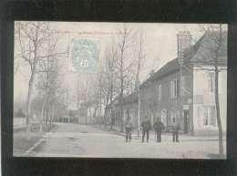 10 Lusigny La Route Nationale & La Poste édit. S.B. & Cie , Animée Facteur - France