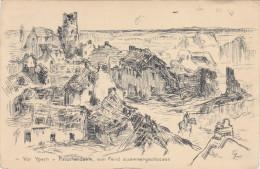 1915 Feldpost BESSERE Ansichtskarte zerschossenes Ypern/Hamburg. MK