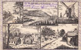 1916 Feldpost BESSERE Ansichtskarte Arras, Loos, Neuville, Virny. MK