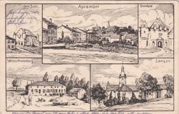 1916 Feldpost BESSERE Ansichtskarte Apremont, Lancon, Saint Juvin, Grandpre. MK