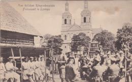 1917 Feldpost BESSERE Ansichtskarte Lyntupy, Russland/Grasleben b Wandersleben. MK