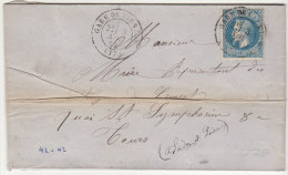 Cher LAC N°29 O. Cad T17 Gare De Vierzon Répété à Côté 1869 - Storia Postale