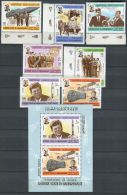 KENNEDY ET COSMOS ( HADRAMAOUT ) : Y&T SERIE  N°  86 + P A + BLOC  , TIMBRES  NEUFS  SANS  TRACE  DE  CHARNIERE  , A  VO - Timbres