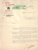 BELGIQUE - BRUXELLES - FEDERATION NATIONALE DES EXPLOITANTS D´AUTOBUS - L´AUTOBUS & L´AUTOCAR - LETTRE - 1935 - 1900 – 1949
