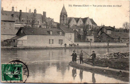 18 VIERZON - Vue Prise Des Rives Du Cher (pêcheurs) - Vierzon