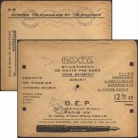 France 1932. Enveloppe En Franchise Des Chèques Postaux. Inoxtyl, Stylo Parfait. Ébonite, Plume Acier Inoxydable - Chemie