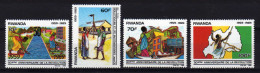 RWANDA 1989 - 30e Ann De La Révolution Rwandaise - 4 Val Neuf // Mnh - Rwanda