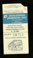 Biglietto Autobus Italia - Circumvesuviana Napoli - Corsa Unica da lire 3.100