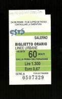 Biglietto Autobus Italia - CSTP Salerno - 60 Minuti da lire 1.300 euro 0.67