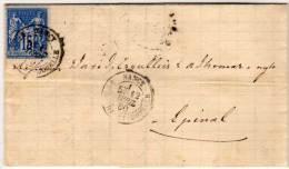Lettre (LAC) De NANCY A EPINAL  - Yvert Type Sage  (77127) - 1876-1898 Sage (Type II)