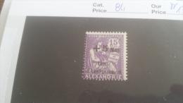 LOT 254133 TIMBRE DE COLONIE ALEXANDRIE NEUF** N�84 VALEUR 13 EUROS