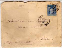 Enveloppe De MARSEILLE A AIX   Yvert Type Sage   (77131) - 1876-1898 Sage (Type II)