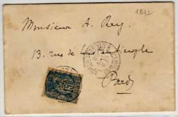 Enveloppe De La Chambre Des Députés (Cachet Gaufré A Sec R.F)   (77134) - 1876-1898 Sage (Type II)