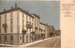 PRIX En BAISSE - VENTE DIRECTE: LUZERN - Hôtel WINKELRIED - J. BOSSERT - LU Luzern