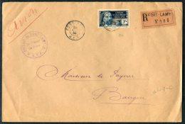 1938 France AEF Rec Fort Lamy Registered Cover - Bangui Dubangui Chari - A.E.F. (1936-1958)