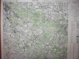 Brackwede Carte état Major Allemagne 1/25000 1951 Oerlinghausen Lippe - Cartes Topographiques