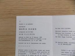Doodsprentje Maria Dams Geel 12/2/1935 Kapellen 17/6/1990 ( Wim Cleiren ) - Religion & Esotericism