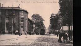 PARIS 14 ème/ ECOLE ET RUE D´ALESIA/ PRISE DE LA RUE DIDOT/ BELLE ANIMATION/ TRAMWAY/ Référence 5438 - District 14