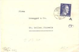 1941 Brief Deutschland Berlin, 793EF Nach Schweiz Mi 793, Zensur, Absender!! Siehe Scan! - Alemania