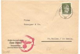 1942 Brief Deutschland Braunschweg, Mi 784 EF Nach Schweiz , Zensur,  Siehe Scan! - Ohne Zuordnung