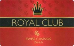 Slotcard / Casinokarte / Playerscard - ROYAL CLUB Swiss Casinos Z�rich - very rare !!!