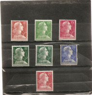 France 1955  Neuf  N° 1009A - 1010 - 1011 - 1011A - 1011Aa - 1011B - 1011C  Marianne De Muller - 1955- Marianne Of Muller