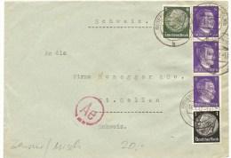 1942 , Brief, Deutschland Gotenhafen Nach Schweiz,, Mi 512, 516, 785, Zensur, Mischfrankatur, Siehe Scan! - Germany