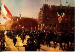 Visite Officielle Au Havre De M. Félix Faure Président De La République 17 Avril 1895 (huile Monogrammé) Cp Vierge - Politicians & Soldiers