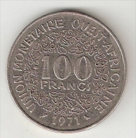 *west African States  100 Francs  1971   Km 4    Xf - Monnaies
