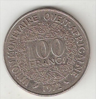 *west African States  100 Francs  1972   Km 4    Vf+ - Monnaies