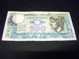 ITALIE 500 Lires D.P.R.05/06/1976, E.D.M. 20/12/1976,pick N° 94, ITALY - 500 Lire