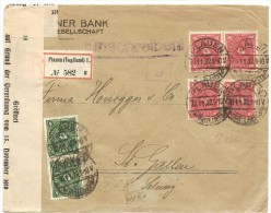 1922 Deutschland, R.- Brief, Plauen Nach Schweiz, Mi 206, 226, Wirtschaftszensur Siehe Scans! - Deutschland