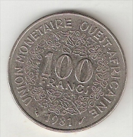 *west African States  100 Francs  1981   Km 4    Vf - Monnaies