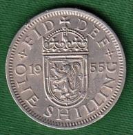 1 PIECE ANGLETERRE ONE SHILLING 1955 FID: DEF:  ELIZABETH II - DEI: GRATIA: REGINA N° 78 - 1902-1971 : Monete Post-Vittoriane