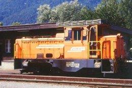 007-684) Dia (color Slide) Schweiz RhB - Gm 3/3 232 Diesel-Rangierlokomotive - Trains