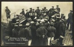 DEUTSCHLAND BELGIEN FELDPOST VERTEILUNG AUTO 1915