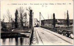 41 CHISSAY - Pont Suspendu Sur Le Cher - église - Château - Autres Communes